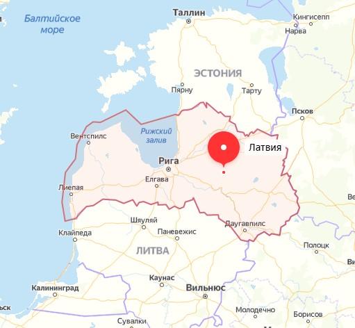 Карта Латвии